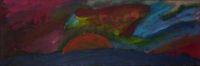 Auringonlasku - The Sunset: Acrylic on canvas: 60cm x 20cm: Sept 2009