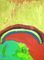 Sateenkaaren muisto - The Remembrance of the Rainbow: Acrylic on canvas: 60cm x 80cm: Mar 2010