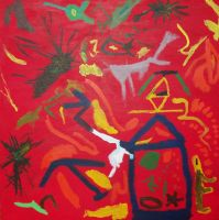 Shamaani - The Shaman:Acrylic on canvas: 100cm x 100cm: May 2009