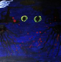 Thriller series: Yön vaarat - The Dangers of the Night: Acrylic on canvas: : January 2011